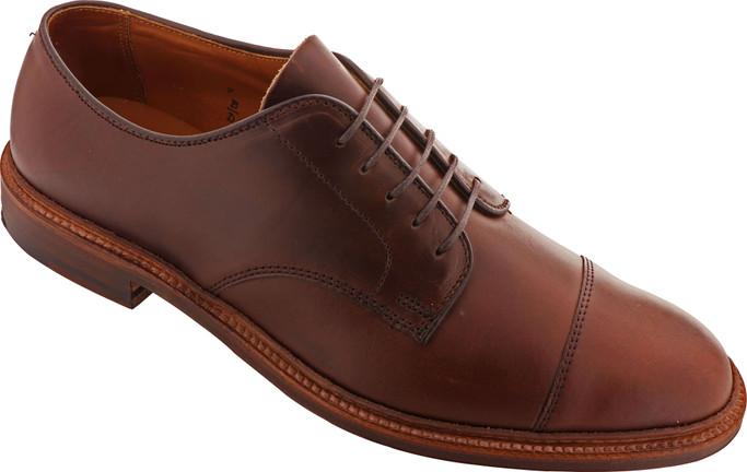 Alden Shoes Men's Cap Toe Blucher Flex Welt D7518F Brown Chromexcel - Main Image