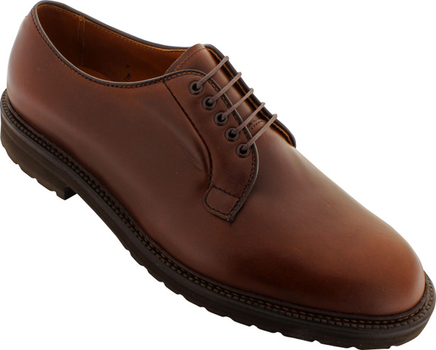 Alden Men's 9432S - Plain Toe Blucher - Brown Chromexcel - Main Image
