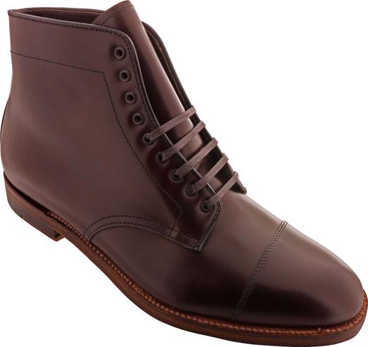 Alden Shoes Men's Straight Tip Boot 3912 Dark Brown - Main Image