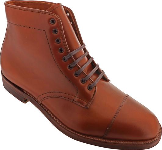Alden Shoes Men's Straight Tip Boot 3914 Burnished Tan