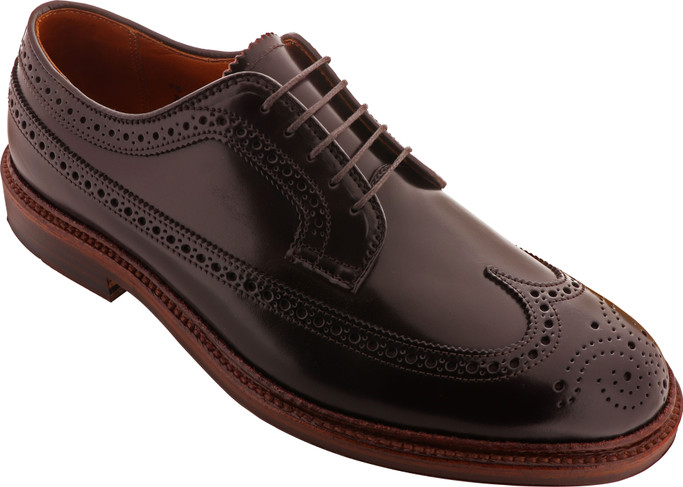 Alden Shoes Men's Long Wing Blucher Shell Cordovan with Antique Edge D7509 Color 8 - Main Image