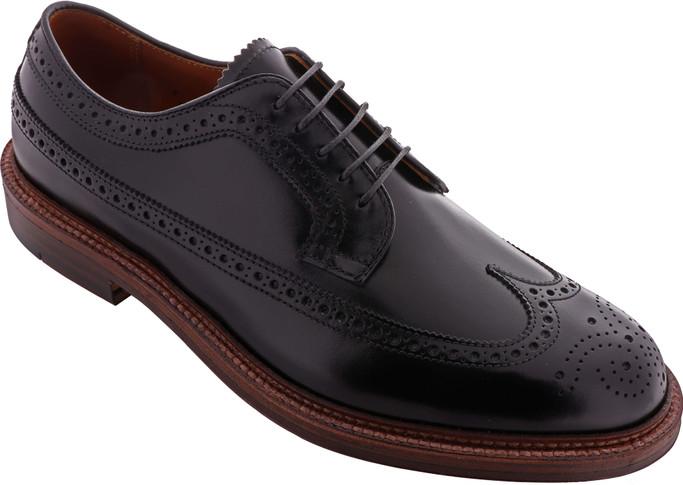 Alden Shoes Men's Long Wing Blucher D8515 Black Calfskin