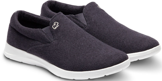 Merino Men's Wool Slip On Shoes - Carbon Grey - Main Image