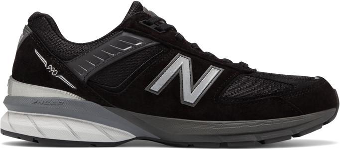 New Balance Men's M990v5 M990BK5 Black-Silver - Main Image