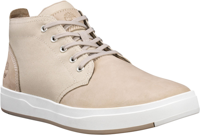 Timberland Men's Davis Square Chukka TB0A1Y9PK51 Light Taupe Fabric-Nubuck