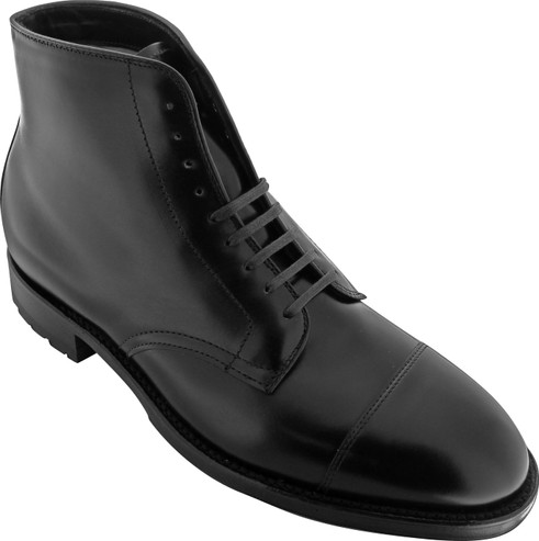 Alden Men's 40727C - Cap Toe Boot Commando Sole - Black Calfskin - Main Image