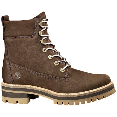 Timberland Women's Courmayeur Valley Yellow Boot TB0A23UYW82 Dark Brown Nubuck - Main Image