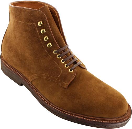 Alden Men's D5805H - Plain Toe Boot - Snuff Suede - Main Image