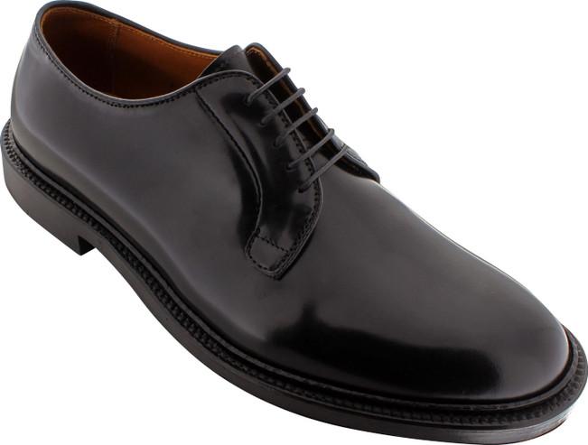 Alden Men's 9901 - Plain Toe Blucher - Black Shell Cordovan - Main Image