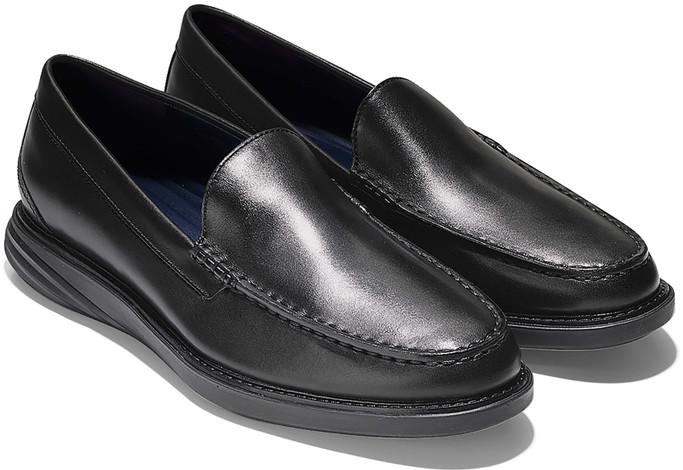 Cole Haan Men's Grand Evolution Venetian Loafer C27883 Black Leather-Black