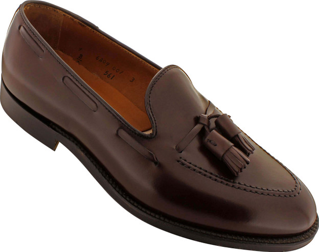 Alden Men's 561 - Tassel Moccasin - Dark Brown Calfskin - Main Image
