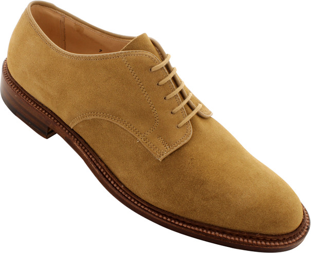 Alden Men's 29332F - Plain Toe Blucher Flex Welt - Tan Suede - Main Image