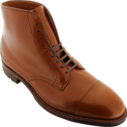 Alden Men's 40721C - Cap Toe Boot Commando Sole - Dark Tan Calfskin
