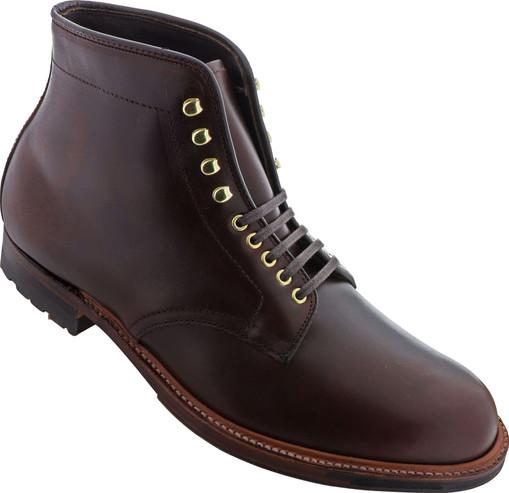 Alden Men's D4813HC - Plain Toe Commando Sole Boot - Brown Chromexcel