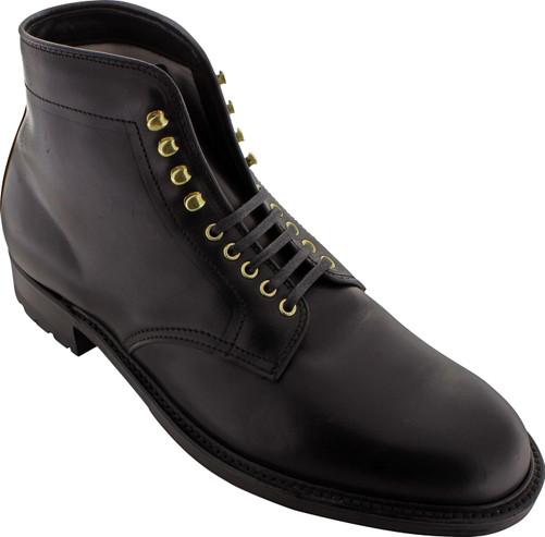 Alden Men's D5806HC - 5 Eyelet Plain Toe Commando Sole Boot - Black Chromexcel