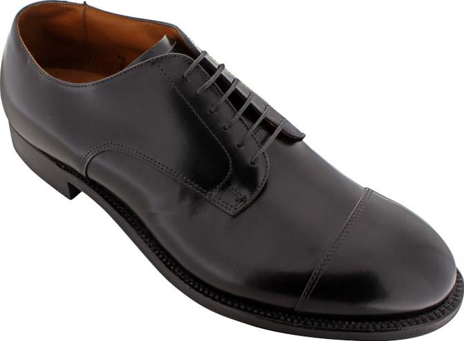 Alden Men's 558 - Straight Tip Blucher Oxford - Black Calfskin - Main Image