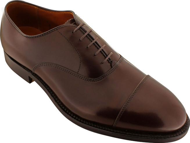 Alden Men's 920 - Straight Tip Bal - Dark Brown Calfskin - Main Image