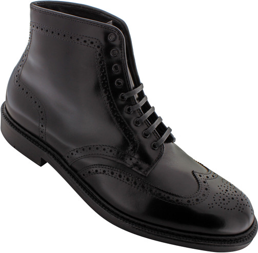 Alden Men's 44619 - Wing Tip Boot - Black Calfskin - Main Image