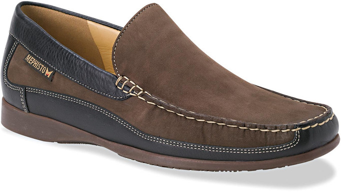 Mephisto Men's Baduard BADUARD-951 Dark Brown Nubuck-Black Calf - Main Image