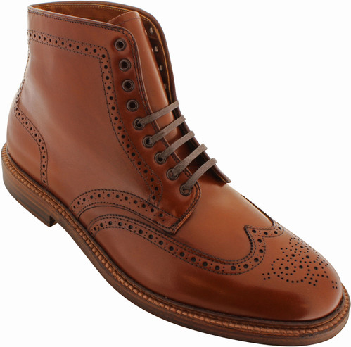 Alden Men's 44618 - Wing Tip Boot - Dark Tan Calfskin