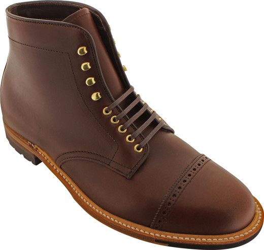 Alden Men's D4811HC - Perforated Cap Toe Boot - Brown Chromexcel