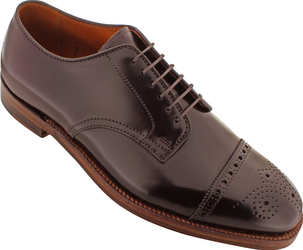 Alden Men's 4398 - 6 Eyelet Cap Toe Blucher - Color 8 Shell Cordovan - Main Image