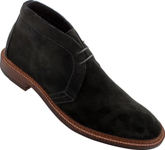 Alden Men's 1497 - Unlined Chukka Boot Flex Welt - Black Suede - Main Image