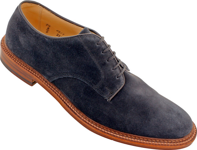 Alden Men's 29331F - Plain Toe Blucher Flex Welt - Navy Suede - Main Image