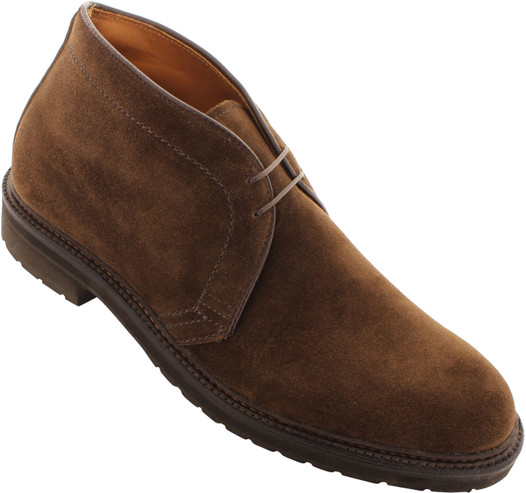 Alden Men's 1273S - Chukka Boot - Dark Brown Suede - Main Image