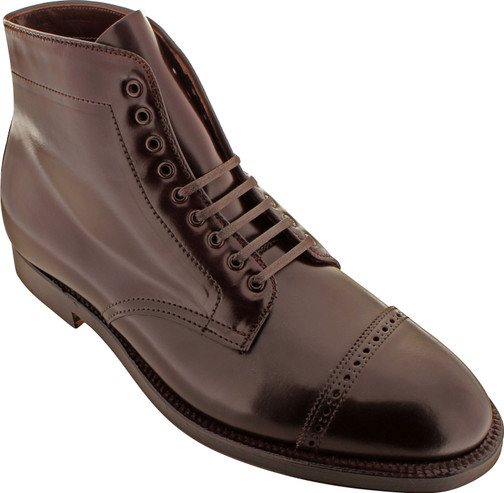Alden Men's D5812 - Perforated Cap Toe Boot - Color 8 Shell Cordovan - Main Image