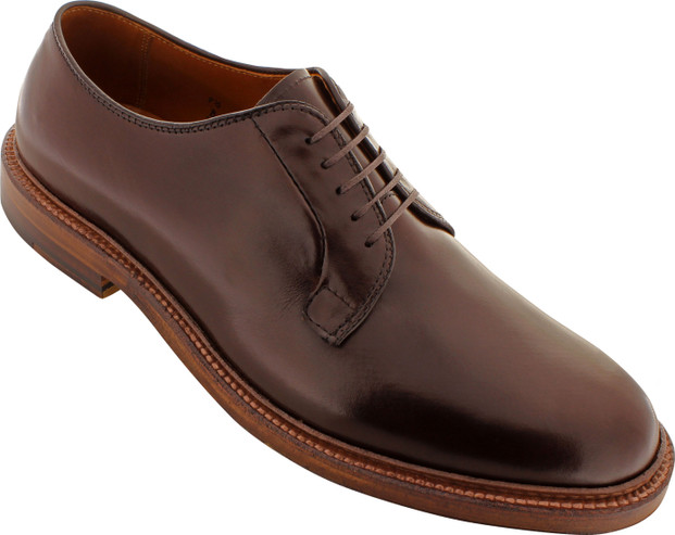 Alden Men's 99026 - Plain Toe Blucher - Dark Brown Smooth Calfskin