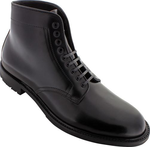 Alden Men's D5826C - Plain Toe Commando Sole Boot - Black Shell Cordovan
