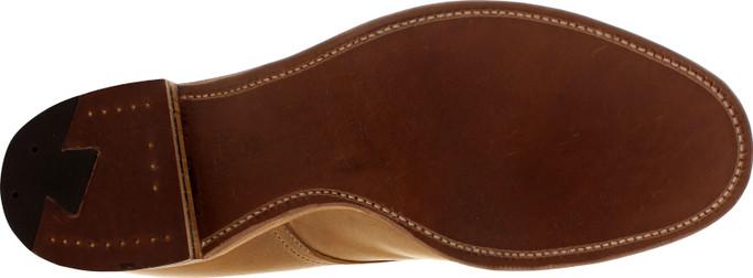Alden Men's 45625H - 5 Eyelet Plain Toe Boot - Natural Chromexcel