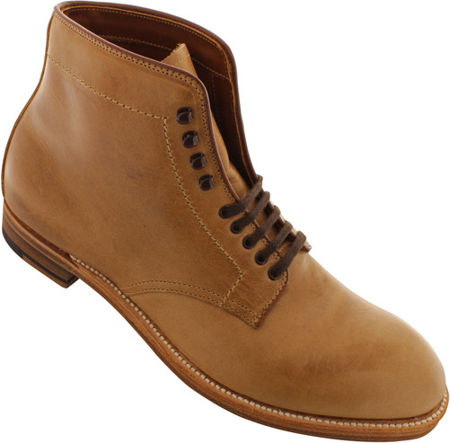 Alden Men's 45625H - Plain Toe Boot - Natural Chromexcel