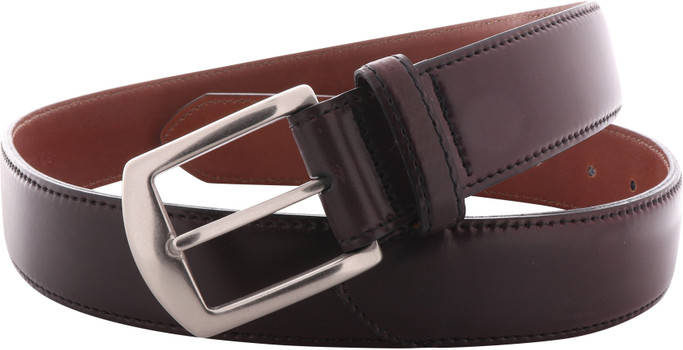 Alden Shoes Men's 1.5 Inch Casual Shell Cordovan Belt MB5918 Color 8-Nickel - Main Image