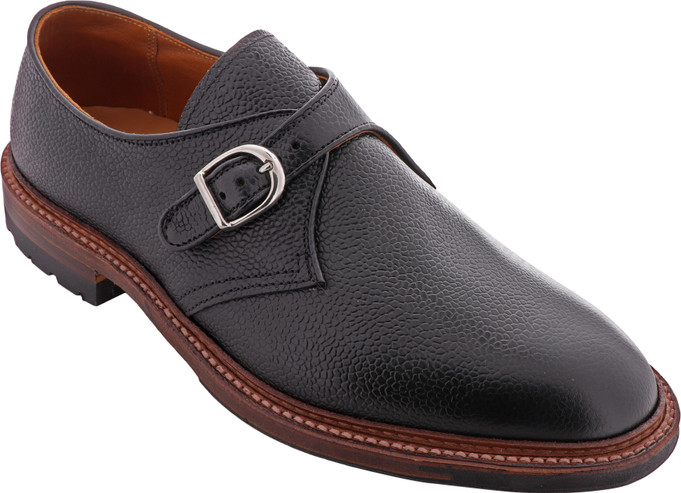 Alden Shoes Men's Monk Strap D9410C Black Scotch Grain - Main Image