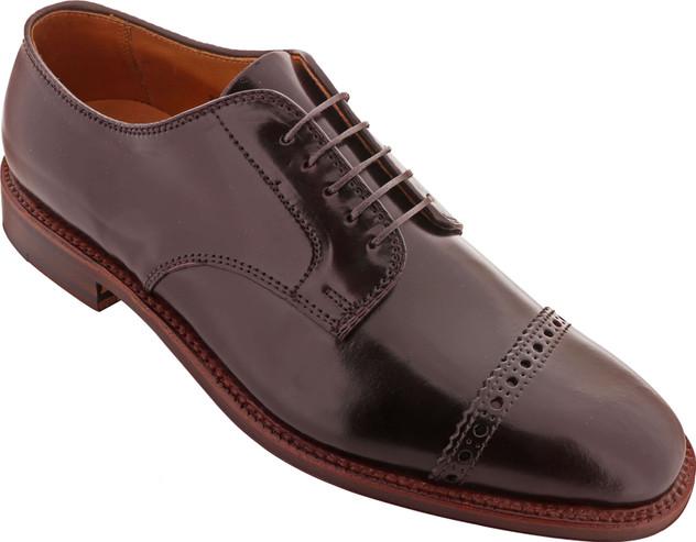 Alden Shoes Men's Perforated Cap Toe Blucher D9527 Color 8 - Main Image