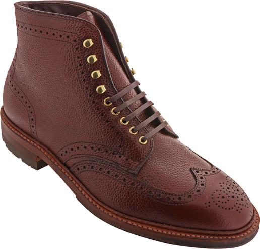 Alden Shoes Men's Wing Tip Boot D9838HC Brown Scotch Grain - Main Image