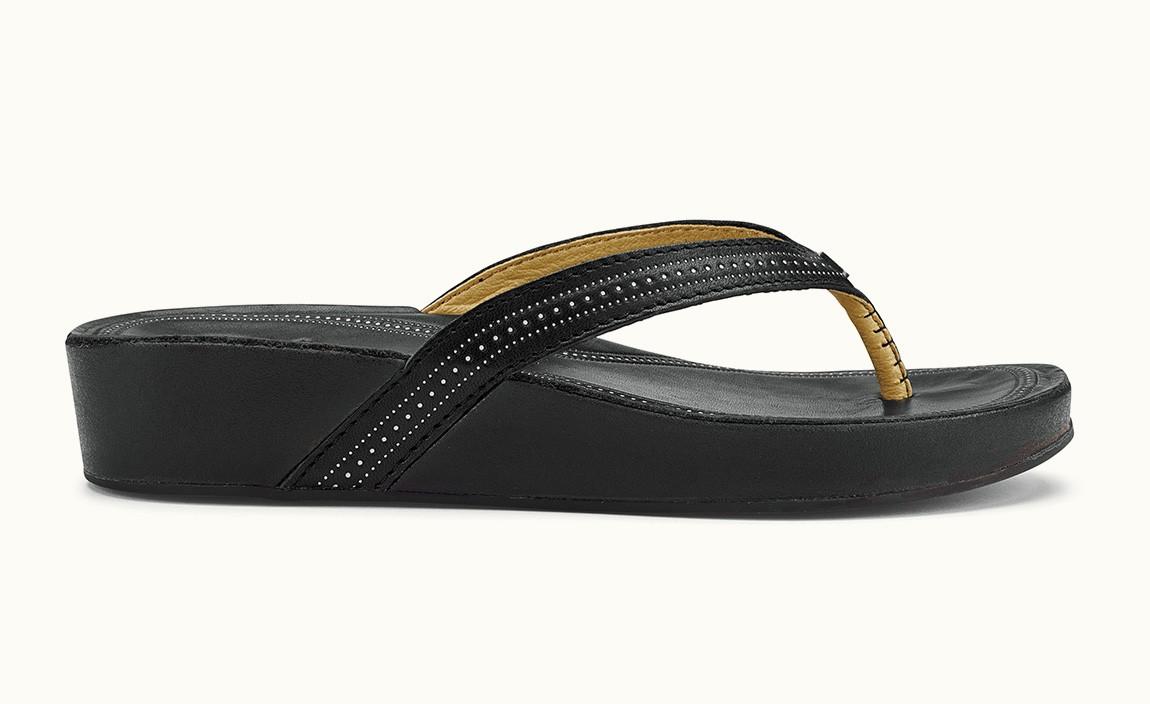 d8b9d529439f4f Olukai Women s Ola 20322-4040 Black - The Shoe Mart