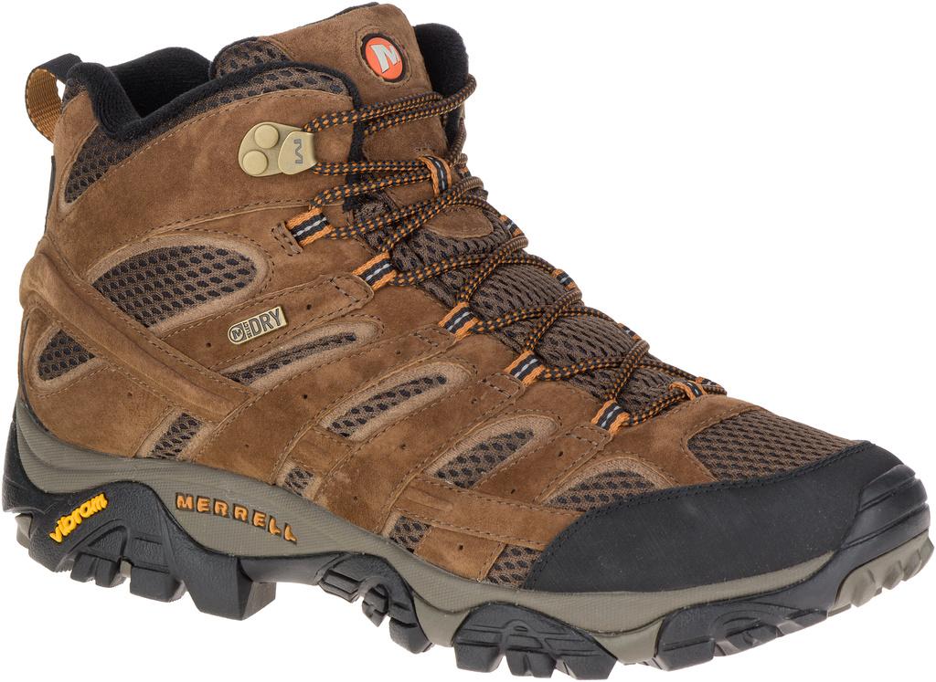 Merrell Men s Moab 2 Mid Waterproof Wide J06051W Earth - The Shoe Mart 4c713c4d85