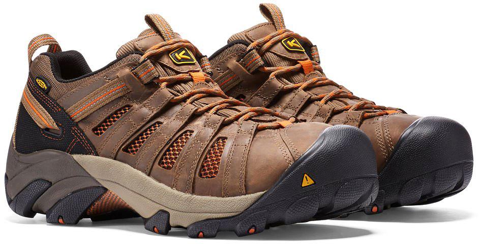 7de3867b9f Keen Utility Men's Flint Low 1007970 Shitake-Rust - The Shoe Mart