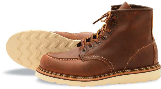 430ae06824a0 Red Wing Heritage Men s 6-Inch Classic Moc 1907 Copper - The Shoe Mart
