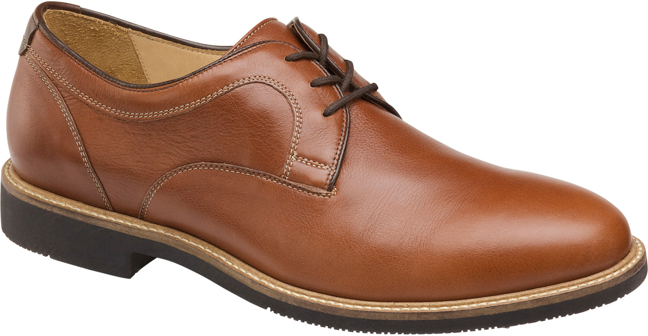 762bad02d4f Johnston Murphy Men s Barlow Plain Toe 20-4072 Dark Tan - The Shoe Mart