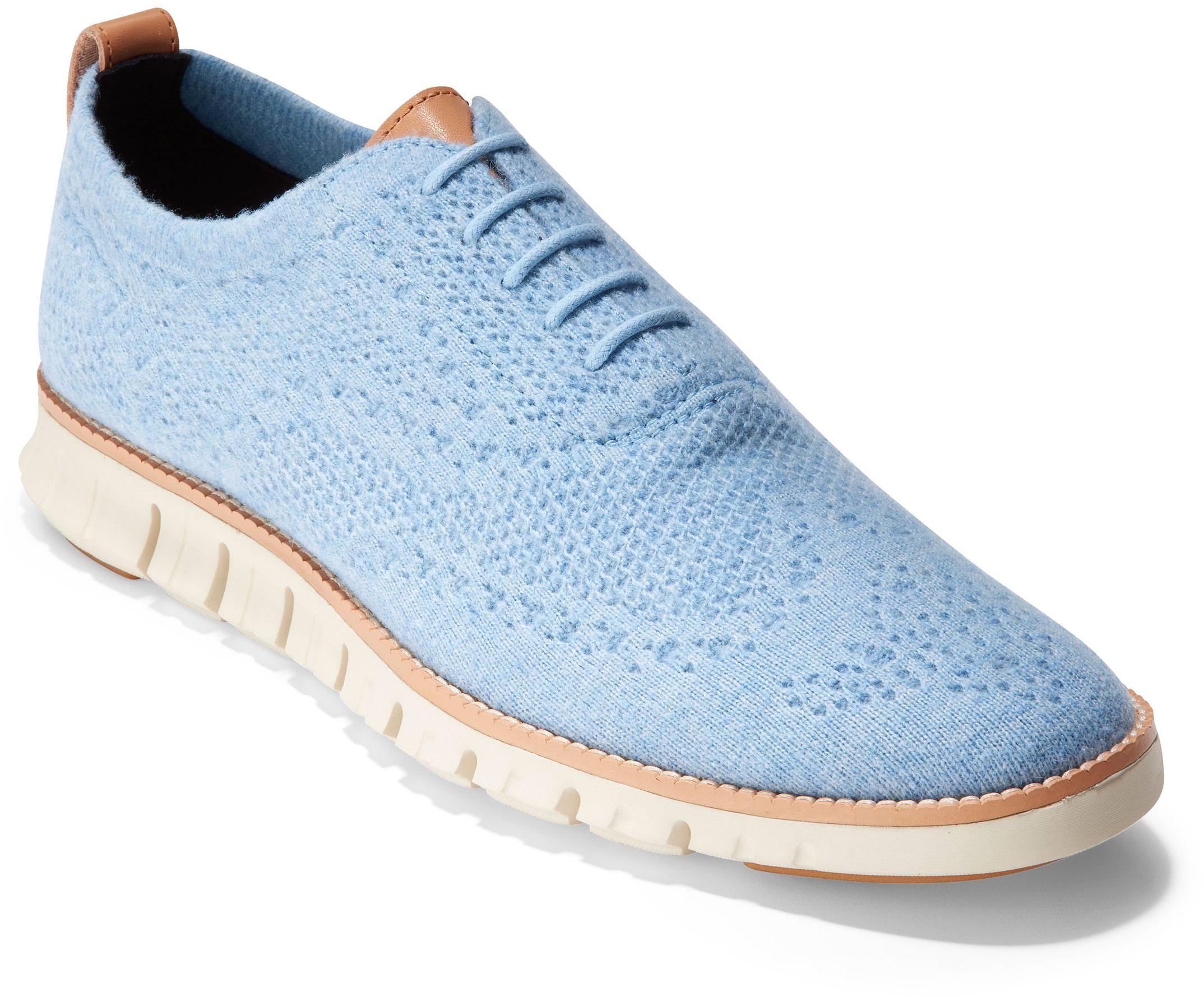 dd0b7a503c Cole Haan Women's Zerogrand Stitchlite Wool Ox C28893 Blue Wool ...