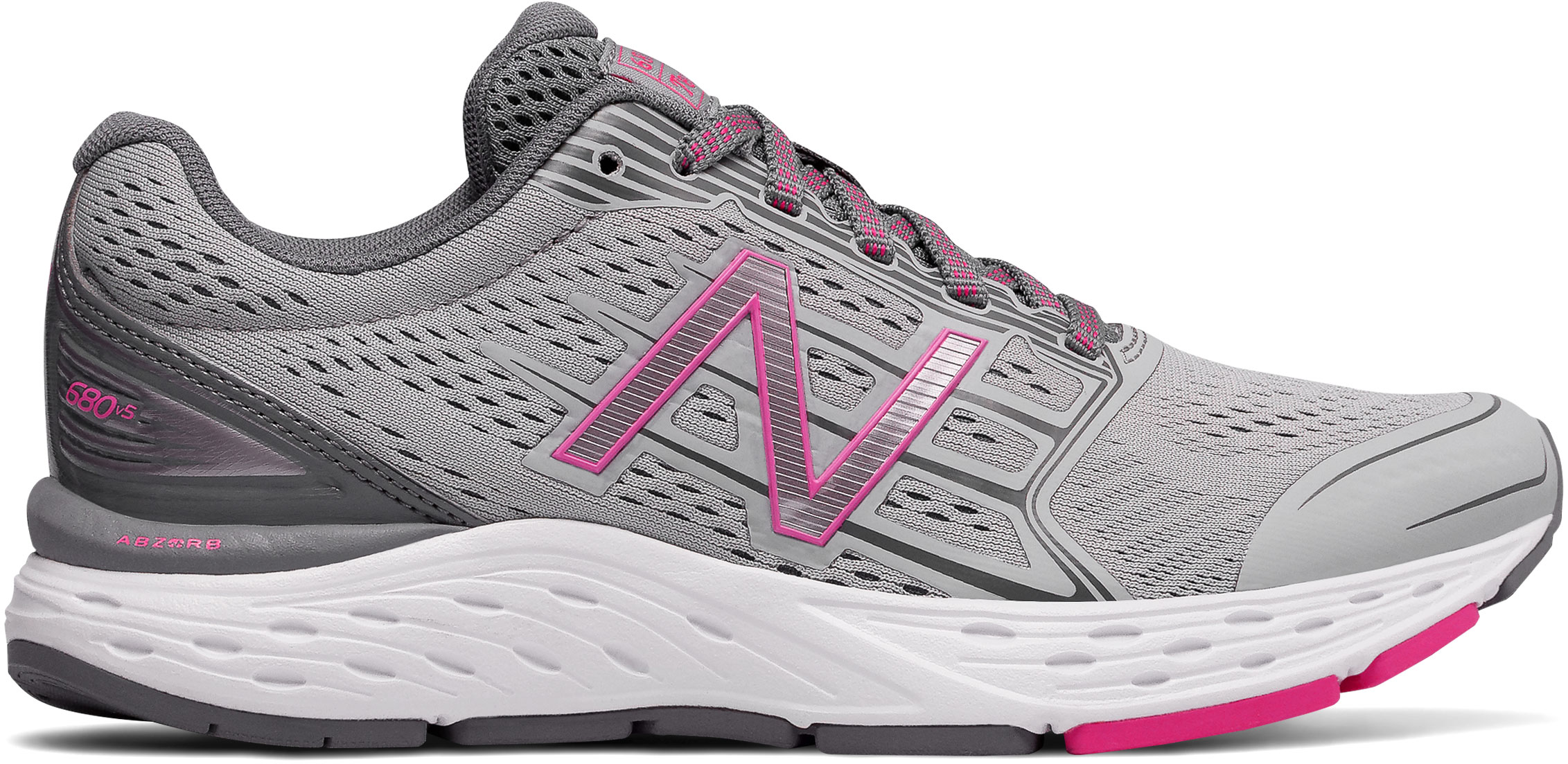 the latest ddd46 d7ac5 New Balance Women s W680v5 W680LG5 Silver Mink-Gunmetal-Pink Glo. Touch to  zoom