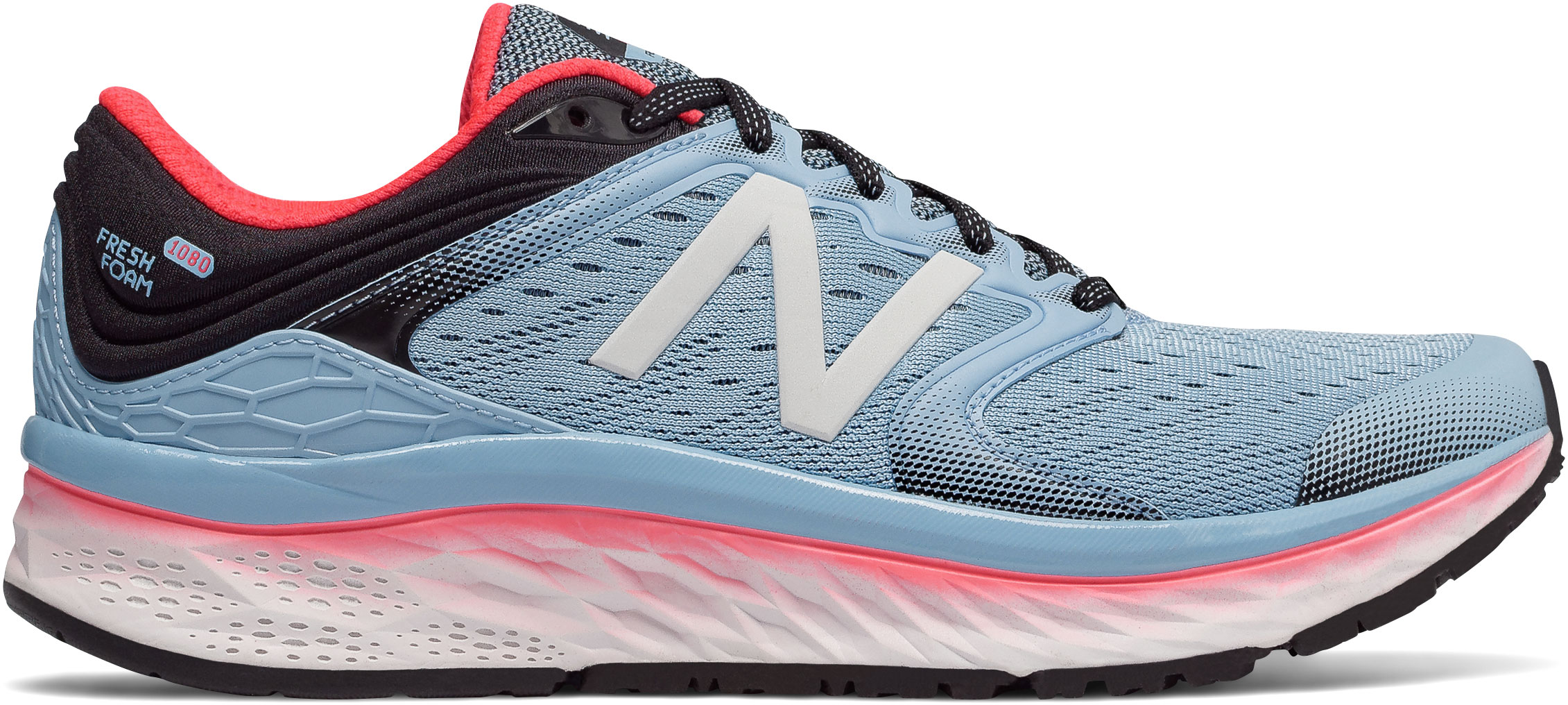 17af1665d53c7 ... New Balance Women s Fresh Foam 1080v8 W1080CS8 Clear Sky-Vivid  Coral-Black ...