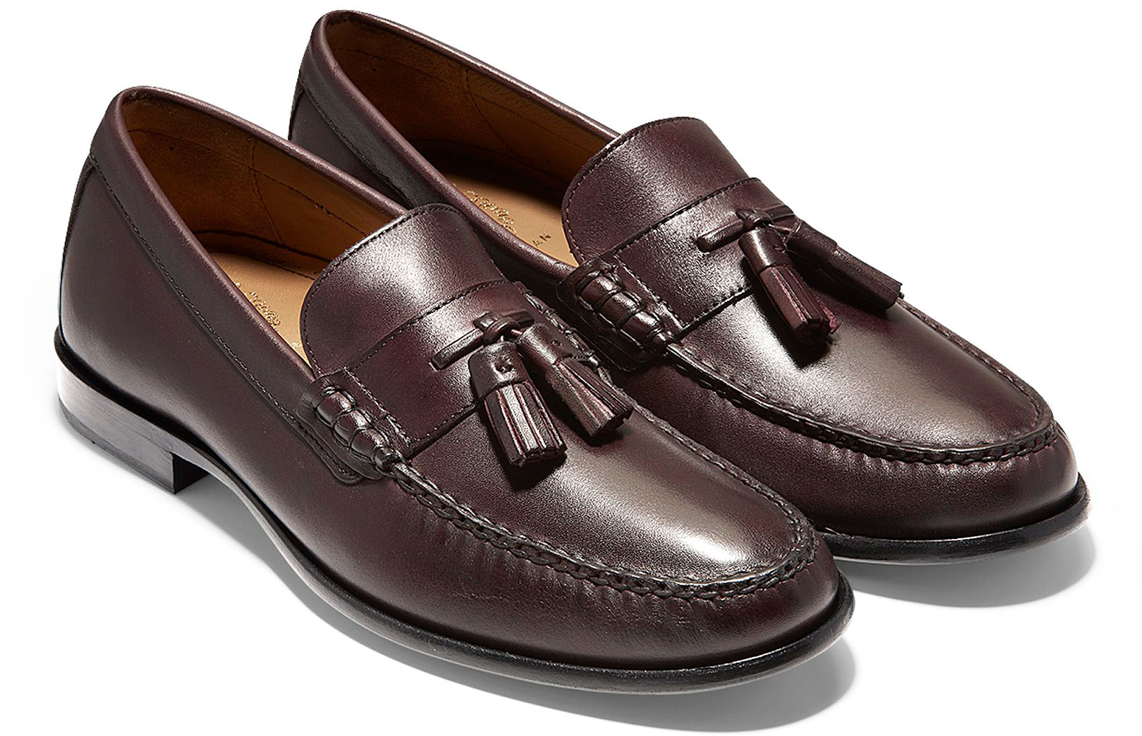 ab0b00c3f75 Cole Haan Men s Pinch Handsewn Tassel Loafer C27965 Burgundy Handstain-Black.  Tap to expand