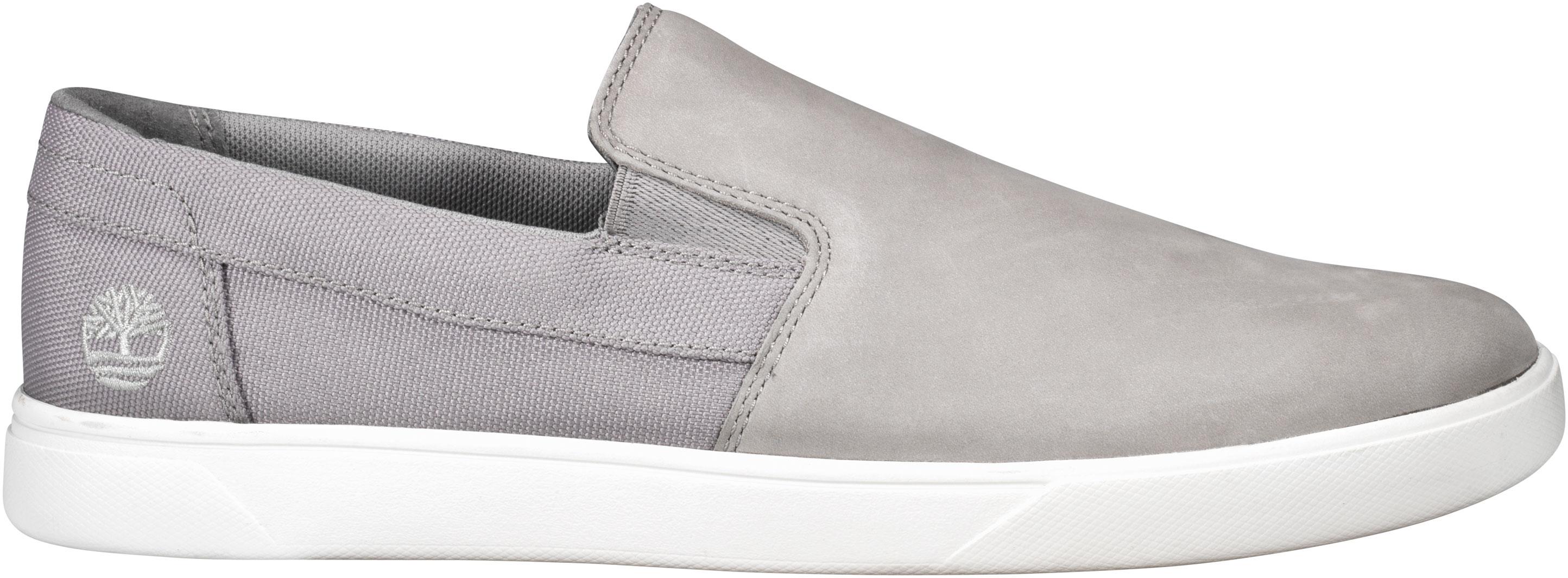 e05e425d8228e Timberland Men's Groveton Slip On TB0A25PDF49 Grey Nubuck - The Shoe ...