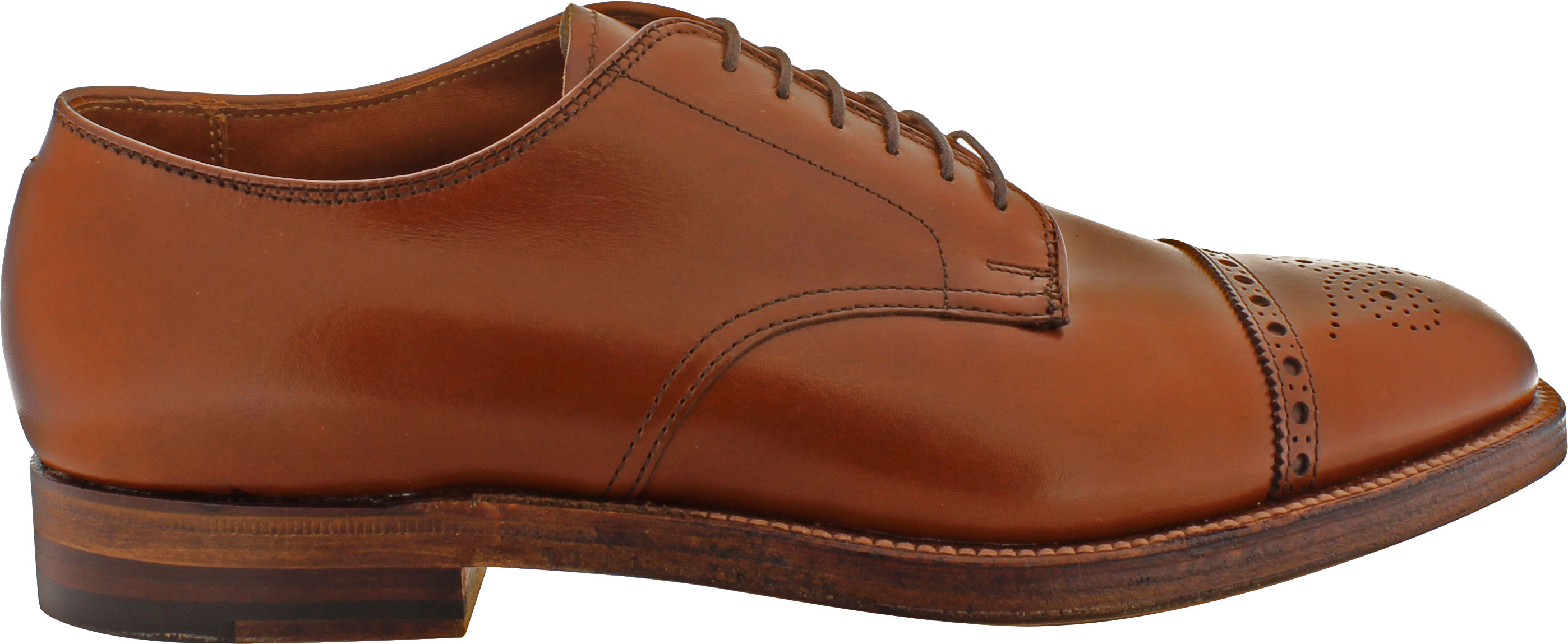 818502c5a Alden Men's D5505 - 6 Eyelet Medallion Cap Toe Oxford - Burnished ...