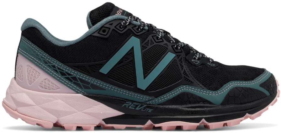 59baa9eb1466b ... New Balance Women's WT910v3 Trail WT910BP3 Black-Bleached Sunrise-Alpha  Pink ...